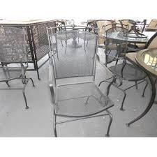 Black Metal Patio Chairs Metal Patio Chair