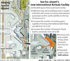 Seattle Map Airport by Construction On Sea Tac U0027s New International Arrivals Facility To