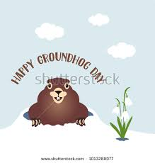 groundhog day cards happy groundhog day card winter stock vector 1013288077