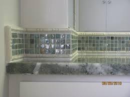 Glass Tile Backsplash With White Cabinets Modern Glass Tile - Backsplash trim strips