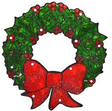 lighted christmas wreaths for windows 15 lighted double sided shimmering christmas wreath window