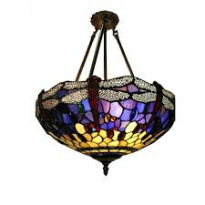 tiffany glass pendant lights tiffany style blue dragonfly hanging ceiling light 224764
