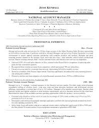 resume template for managers executives den national sales director resume account manager resume exles