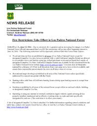 Forest And Waves State Of by Fire Restrictions U2013 Los Padres Forest Association