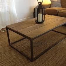 diy coffee table modern with reclaimed wood look under 60