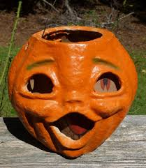 halloween paper lanterns halloween paper mache two faced jack o lantern from