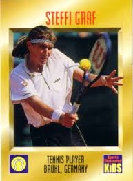 steffi graf 1997 sports illustrated for card s tennis