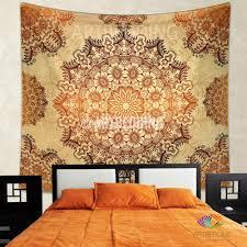 Bedroom Wall Tapestries Bohemian Tapestry Gold Mandala Tapestry Wall Hanging Bohemian