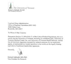 Work Certification Letter Sle To Whom It May Concern The University Of Vermont