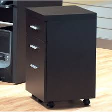 Mobile File Cabinet Monarch Specialties Inc 3 Drawer Hollow Mobile File Cabinet
