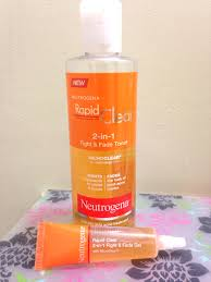 review neutrogena fight u0026 fade 2 in 1 toner and 2 in 1 fight