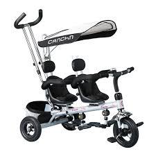 siege velo bébé enfants tricycle européenne de luxe jumeaux landau deux
