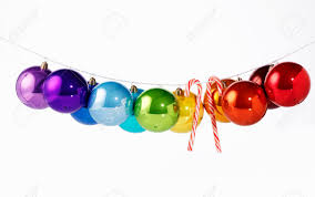 shiny coloured christmas baubles u0026 candy canes on washing stock