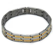 solid bracelet images Stainless steel solid bracelet two tone milanus jewelry jpg