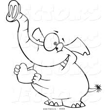 vector of a loving cartoon elephant holding a valentine love heart