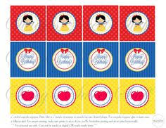 cupcake toppers party party snow white birthday