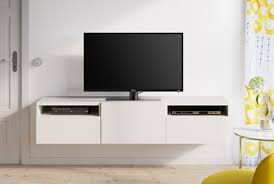 Wall Mount Besta Tv Bench Media Cabinet Ikea Simple Design Idea And Decor