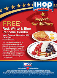 ihop veterans day csr white and blue pancakes