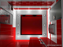 amusing red bathroom excellent two tone white and themes round