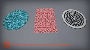 Modern Rug by Modern Rugs By Ajk 3d In Props Ue4 Marketplace