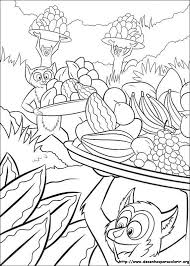 8 madagascar color pages images coloring