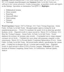 Sample Qa Tester Resume by Ingenious Inspiration Ideas Qa Tester Resume 10 Professional Entry