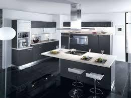 cuisine avec ilot central ikea cuisine ilot central noir blanc avec et bar newsindo co