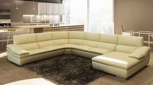 eco modern furniture living room modern leather taupe sectional sofa eco with ottoman