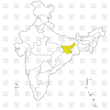 eastern state jharkhand on the map of india vector image 42754