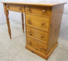 Small Pine Desk Pine Desk With Storage Drawers