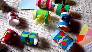 arts and crafts colorful napkin holders from toilet paper rolls