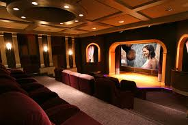 A Theater With A Stage Contemporary Home Theater DC Metro - Home theater stage design