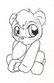 baby panda coloring page free download