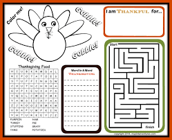 thanksgiving printable activity pages festival collections