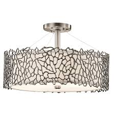 Pewter Ceiling Lights 3 Light Pendant 43346clp Pewter Silver Coral