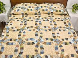 Wedding Ring Quilt by Double Wedding Ring Quilt Outstanding Skillfully Made Amish