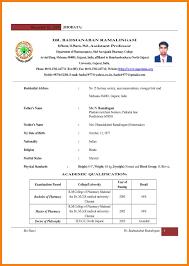Pharmacist Resume Templates B Pharmacy Resume Format For Freshers Resume For Your Job