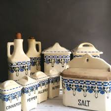 vintage ceramic kitchen canisters shop vintage kitchen canister sets on wanelo