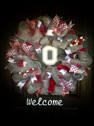 Ohio State Home Decor by Ohio State Wreath Wreath U0027s And More By J Wolfe Pinterest