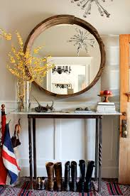 Entry Console Table With Mirror Mirror And Console Table Revealed Wood Mirror Reclaimed Wood