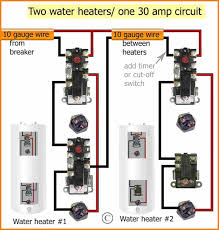 how to wire water heater thermostat wiring diagram afif