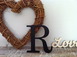 painted wooden letter u0027r u0027 any colour roman style 20 wall