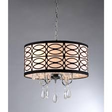 Ceiling Chandelier Home Decorators Collection 4 Light Chrome And Crystal Flushmount