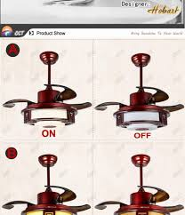 220v acrylic ceiling fan light remote control luxury classic 42