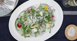 Salad With Edible Flowers - herbed cucumber and yoghurt salad with edible flowers my baba