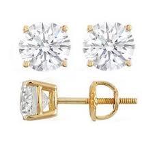 14 karat gold earrings diamond earrings 1 1 2 carats tcw diamond earrings in 14 karat