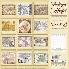 antique maps 2018 wall calendar 9783960132707 calendars com