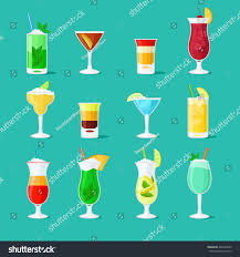 cocktail vector flat icons party drinks stock vector 485434039