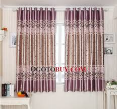 Curtains On Bay Window Fascinating Square Printing Bay Window And Small Window Curtains