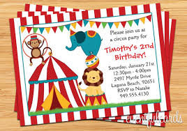 circus birthday invitation for